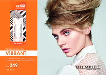 Paul Mitchell VIBRANT SHAMPO OG CONDITIONER kun 249,-