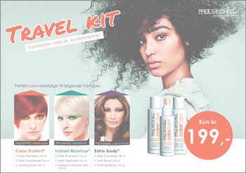 PAUL MITCHELL TRAVEL KIT - 3 PRODUKTER I REISESTØRRELSE kun 199,-